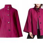 Czerwona kurtka i płaszcz