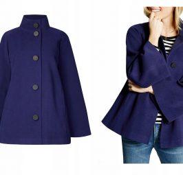 Fioletowe kurtki i płaszcze