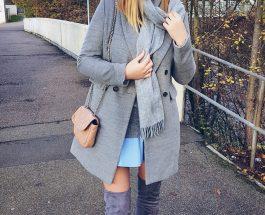 Brązowy Płaszcz Zimowy